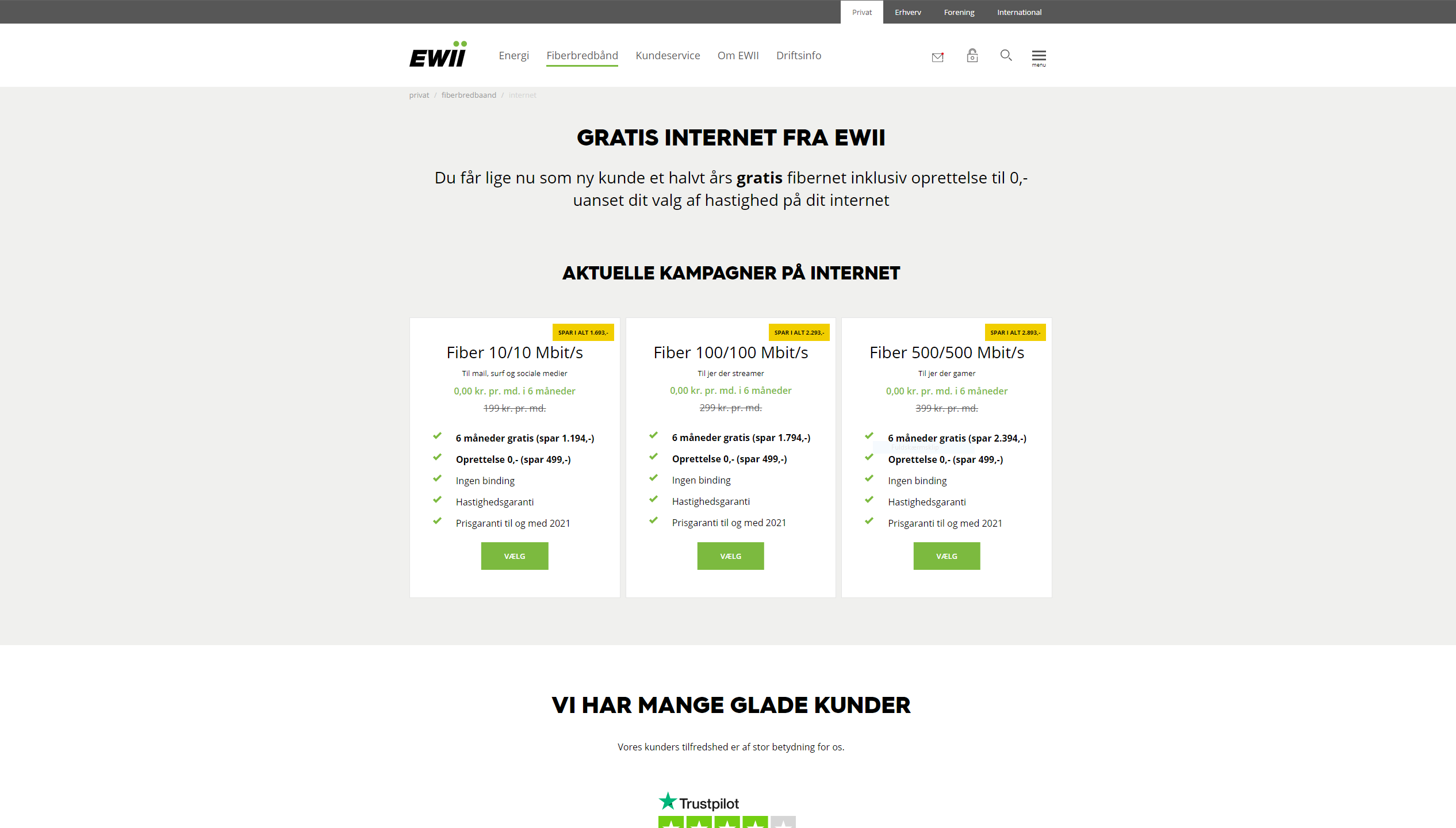 df42658c03d98 NET-Tilbud.dk - EWII - Fiberbredbånd - Halvt års gratis internet inklusiv  gratis tilslutning til fibernettet