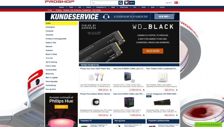 billige priser indenfor elektronik og hvidevarer.